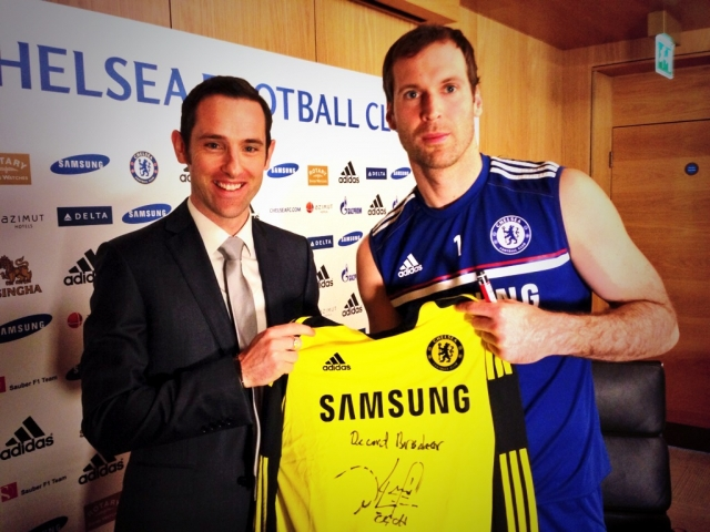 This is me and Petr Cech